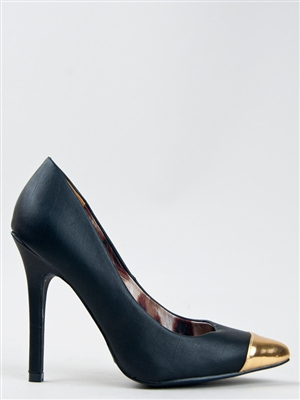 ZOOSHOO QUIPID POTION GOLD POINTY CAP TOE PUMP