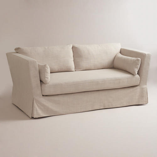 Cost Plus Linen Crosby Sofa + Slipcover