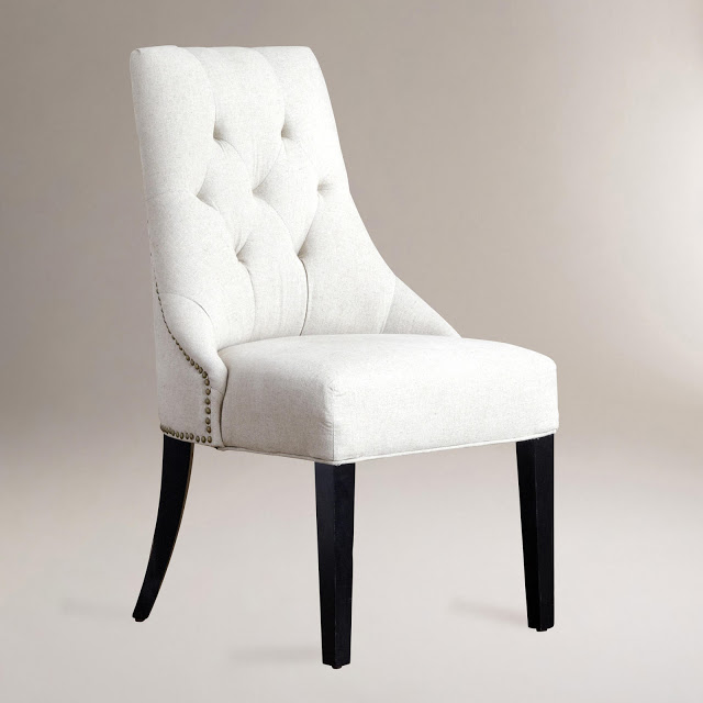 COST PLUS LINEN LYDIA DINING CHAIRS