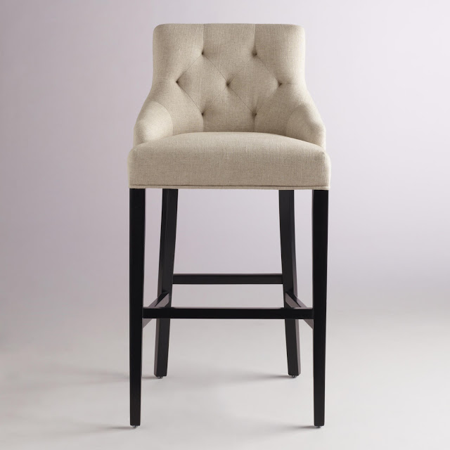 COST PLUS LINEN LYDIA BARSTOOL