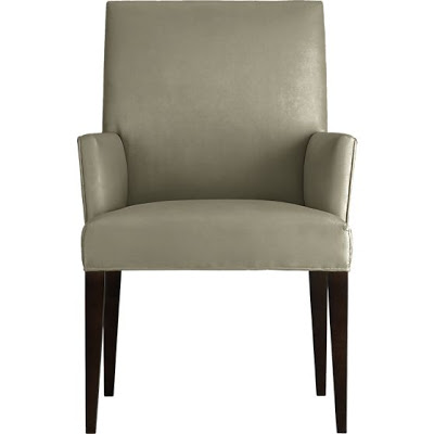CRATE AND BARREL MILES ARM CHAIR