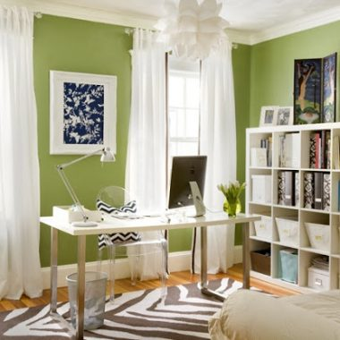 Copy Cat Chic Room Redo: Spring Green Home Office