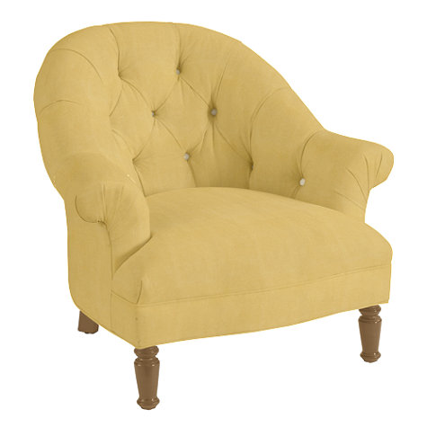 BALLARD DESIGNS JULIA UPHOLSTERED CHAIR IN HONEY LINEN