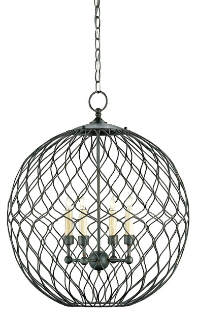 CURREY AND COMPANY SIMPATICO ORB TRADIITONAL CHANDELIER