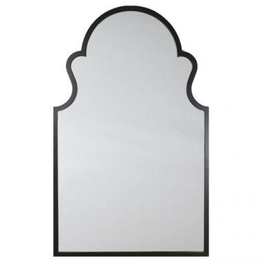 Zinc Door Ebony Hand Carved Arche Mirror