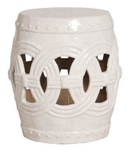 PLANTATION INTERLINKED CERAMIC STOOL