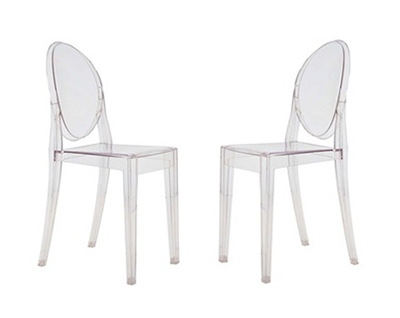PHILIPPE STARCK STYLE VICTORIA GHOST CHAIRS