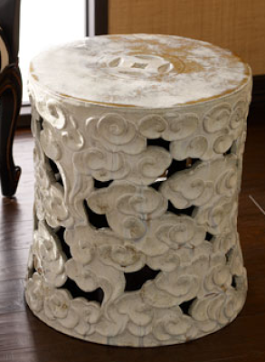 HORCHOW ANTIQUE GARDEN STOOL