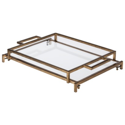 TARGET METAL TRAY WITH GLASS
