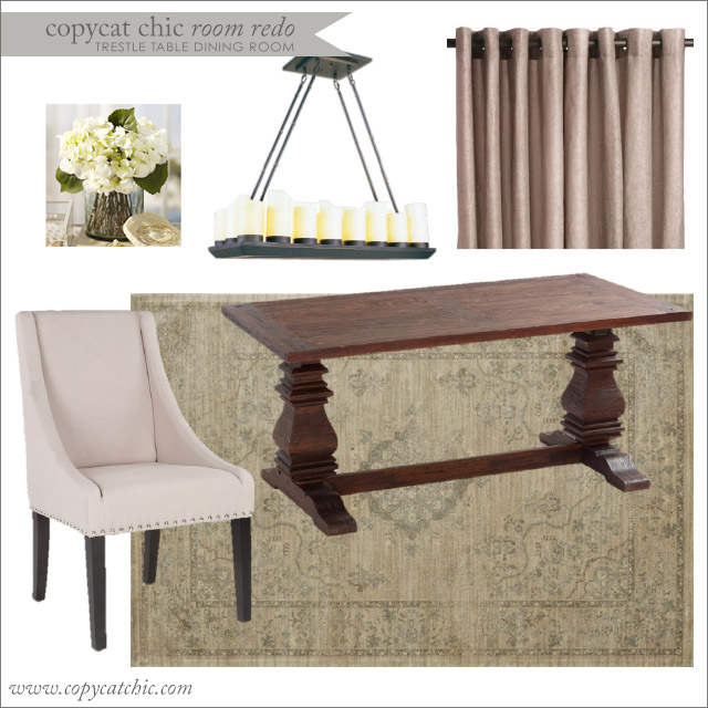 Trestle Dining Room Table: Copy Cat Chic Room Redo: Trestle Table Dining Room