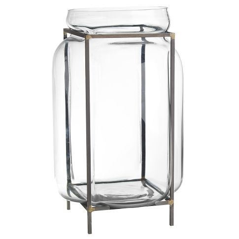 WEST ELM GLASS TERRARIUM (LARGE)