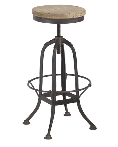WILLIAMS SONOMA WROUGHT IRON COUNTER STOOL