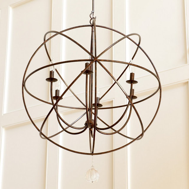 BALLARD DESIGNS ORB CHANDELIER - Restoration Hardware Foucault's Iron Orb Chandelier Part 2