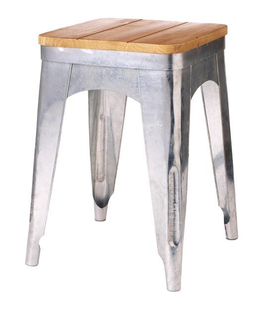 Nice TARGET THRESHOLD metal stool with wood top