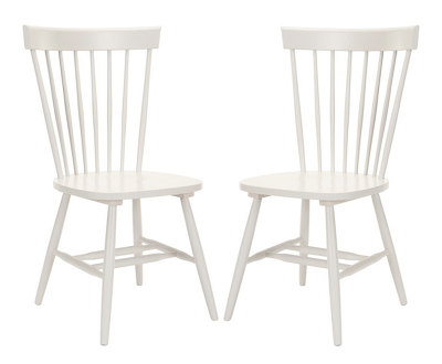 OVERSTOCK COUNTRY LIFESTYLE SPINDLE BACK DINING CHAIRS (SET OF 2)
