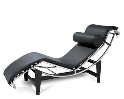 IN STYLE MODERN LE CORBUSIER LEATHER CHAISE LOUNGE LC4