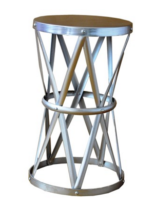 TARGET THRESHOLD ROUND HAMMERED METAL ACCENT TABLE