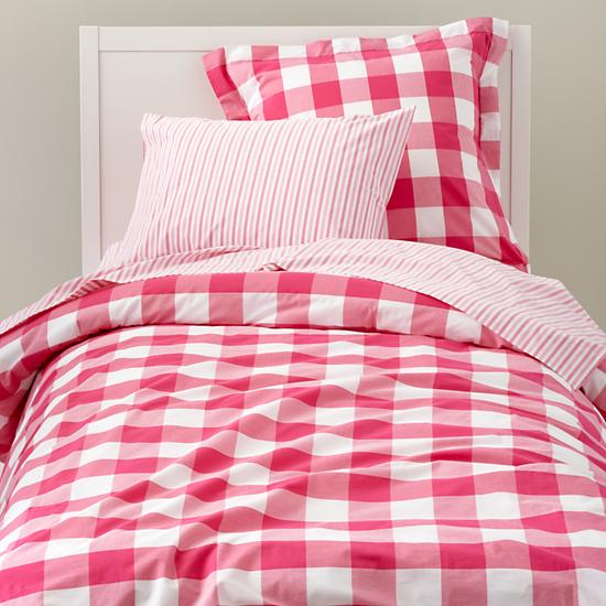 Land Of Nod Breezy Gingham Bedding Copycatchic