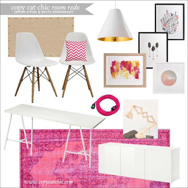 Copy Cat Chic Room Redo | Holly Becker\'s Hot Pink and White ...