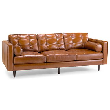 JCPENNEY'S OASIS DARRIN LEATHER SOFA