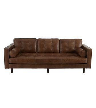 Neiman Marcus Albania Leather Sofa