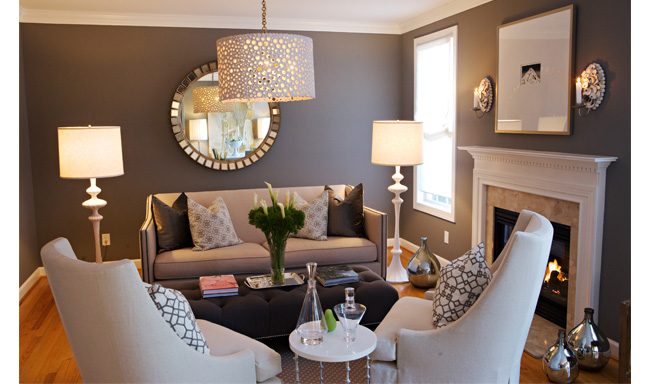 Copy Cat Chic Room Redo Glamorous Grey Living Room copycatchic