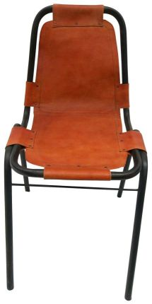 RUGS USA NOTTINGHILL ACCENT LEATHER CHAIR CHESTNUT