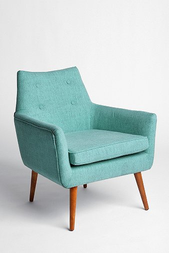 URBAN OUTFITTERS MODERN CHAIR IN TURQUOISE