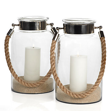 Two S Company Lanterns With Rope Handle Copy Cat Chic