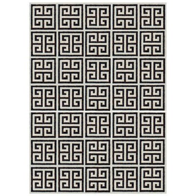 Zinc Door Jonathan Adler Greek Key Rug In Black