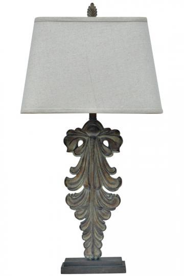 Restoration Hardware Acanthus Leaf Artifact Table Lamp