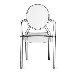 DESIGN WITHIN REACH LOUIS GHOST ARMCHAIR