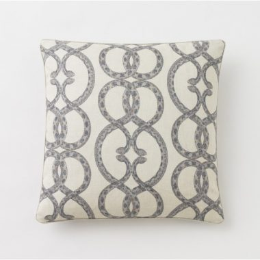Dwell Studio Snake Chain Dove Pillow