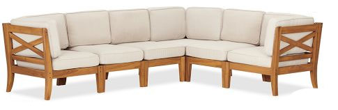 pottery barn hampstead teak sectional set copy cat chic