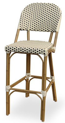 Popular overstock paris indoor outdoor bamboo finished bar chair