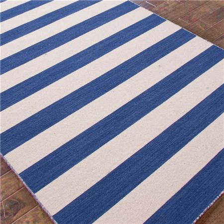 SHADES OF LIGHT BLUE AWNING STRIPE RUG