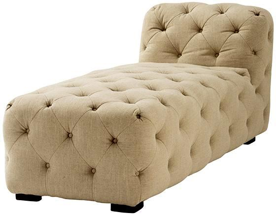 Home Decorators Lia Tufted Chaise In Natural Linen