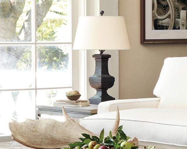 Ideal Williams Sonoma Square Iron Balustrade Table Lamp