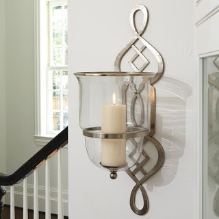 CANDELABRA GLOBAL VIEWS GRAND FRET HURRICANE SCONCE
