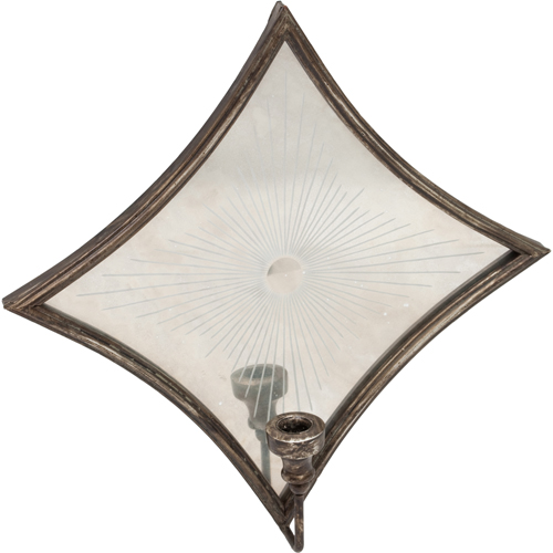 High Fashion Home Diamond Mirrored Sconce