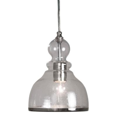 HOME DEPOT HOME DECORATORS COLLECTION BELL PENDANT WITH CLEAR GLASS SHADE