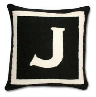 Jonathan Adler Letter Pillow Copy Cat Chic