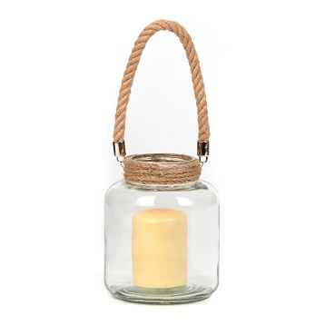 KIRKLAND'S CLEAR GLASS LANTERN