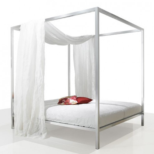 mdf italia aluminium canopy bed copy cat chic. Black Bedroom Furniture Sets. Home Design Ideas