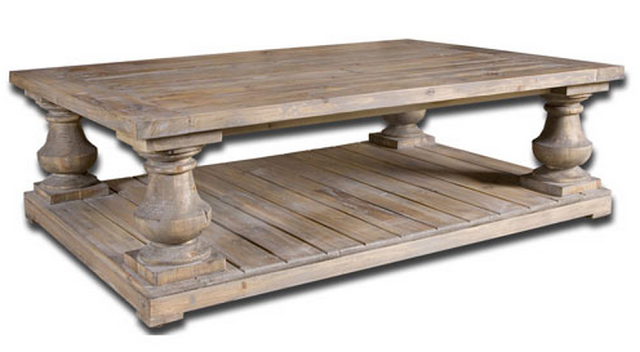 UTTERMOST STRATFORD FIR WOOD TABLE