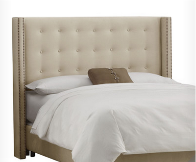 Inspirational WAYFAIR SKYLINE FURNITURE BUTTON TUFTED UPHOLSTERED HEADBOARD QUEEN