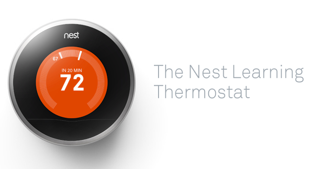 The Nest Thermostat from Lowe's