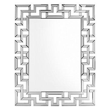 Zinc Door Mirrored Greek Key Mirror Copycatchic