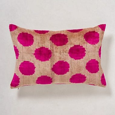 Anthropologie Velvet Zaadi Dot Pillow