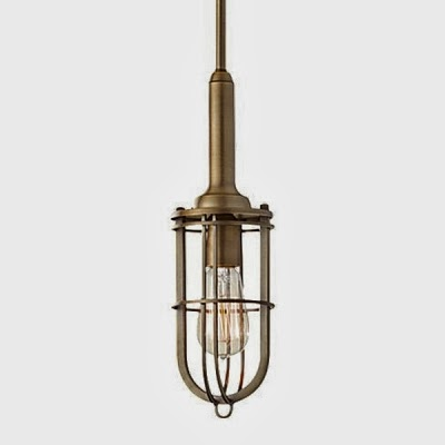 Barn Light Electric Sequestered Cage Pendant